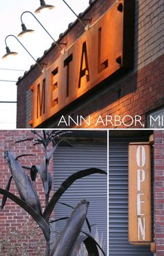 Metal Signage, Wayfinding Signage, Signage Design, Restaurant Signage, Storefront Signs, Bar A Vin, Monument Signs, Building Signs, Exterior Signage