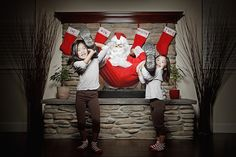 Pix by Jason Lee--How the Kids Caught Santa (behind the scenes)