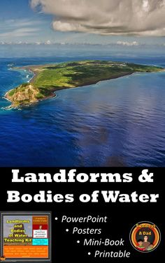 Teaching geography just got easier with this 20 slide PowerPoint that showcases 20 landforms/bodies of water with actual photographs, animation, and sound.  Students follow along with a printable, then show their understanding by completing a mini-book.  Posters of each landform/body of water are also included in this full teaching kit.  Check it out!