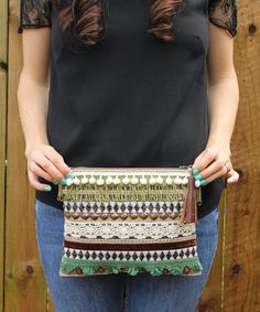 Ethnic Embellished Fringed Clutch Bag by RENIQLO on Etsy, £25.00