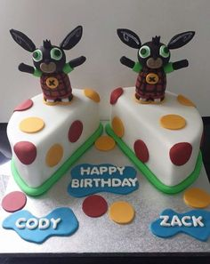 3D Bing Bunny cake on CBeebies in the UK by Deb Williams Cakes