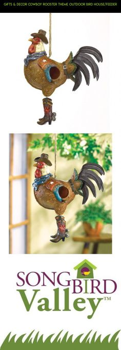 Gifts & Decor Cowboy Rooster Theme Outdoor Bird House/Feeder #fpv #birds #camera #technology #racing #gadgets #kit #products #decor #drone #parts #outdoor #tech #shopping #plans