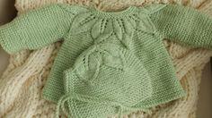 3 -6 mois ensemble 2 pièces vert pomme fille avec bonnet.sur Etsy.com/ca/fr/shop/TricotsDiahn