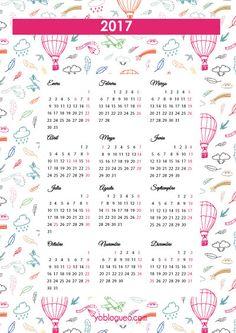 calendario 2017 infantil gratis
