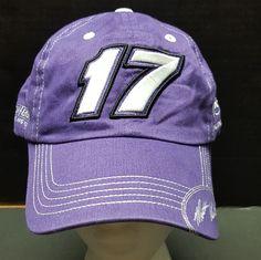 Nascar Hat Roush Fenway Racing  17 Matt Kenseth Purple Strapback Hat One  Size  Checkeredflag b3d74458fa39