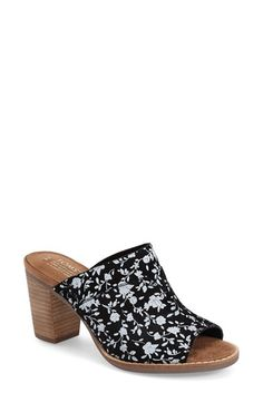 TOMS 'Majorca' Floral Suede Mule (Women) available at #Nordstrom