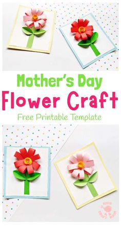 fall crafts for kids preschool Make an easy paper flower card in all your favourite colours. This paper flower craft is so pretty and perfect as a Spring craft and Mother's Mothers Day Crafts For Kids, Spring Crafts For Kids, Mason Jar Crafts, Mason Jar Diy, Crafts To Sell, Easy Crafts, Kids Crafts, Easy Paper Flowers, Flower Paper