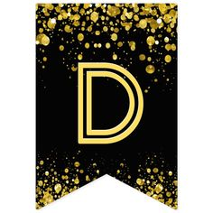 Banderines confeti del oro del ☆HAPPY BIRTHDAY☆ | Zazzle.com Banner Letters, Diy Banner, Happy Birthday Signs, 50th Birthday, Carrie, Baby Stickers, Gold Confetti, Bunting Banner, Flag Design