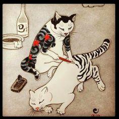 herding cats & burning soup: Cat Thursday--Tattoos!