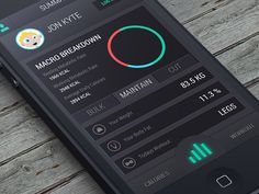 iTrain App UI by Jon Kyte. 30 Beautiful Mobile UI Examples. #mobile #app #UI #design #inspiration