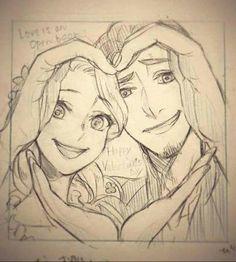 Rapunzel and flinn