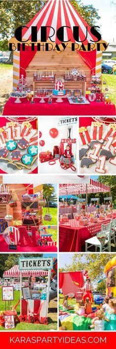 Circus Carnival Birthday Party via Kara's Party Ideas | KarasPartyIdeas.com