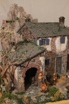 1 million+ Stunning Free Images to Use Anywhere Christmas Nativity Scene, Noel Christmas, Christmas Houses, Christmas Villages, Miniature Houses, Miniature Dolls, Hand Kunst, Doll House Crafts, Medieval Houses