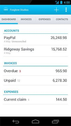 Xero, Beautiful accounting software. https://play.google.com/store/apps/details?id=com.xero.touch