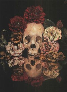 View Vanitas still life with flowers and insects by Toru Kamei on artnet. Browse upcoming and past auction lots by Toru Kamei. Vanitas, Memento Mori, Art Sinistre, Art Noir, Diane Arbus, Flower Skull, Skeleton Flower, Skulls And Roses, Inspiration Art