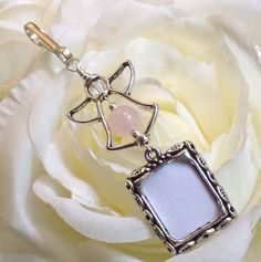 Angel wedding bouquet and memory charm. Pink by SmilingBlueDog