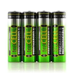 Reduce, RECHARGE, Recycle! TruCELL AA NiMH Pre-Charged Rechargeable 2200mAh Batteries! Includes Five 4-Packs , 20 batteries! by Accessory Power. $44.99. Why Accessory Power's truCELL AA NiMH Precharged Rechargeable Batteries?Accessory Power's truCELL Rechargeable Batteries can replace your drawerful of those expensive and disposable single-use Batteries.truCELL Rechargeables are made with Top-of-the-Line Materials and are economical, reuseable, and an Eco-friend...