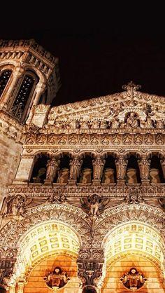 Basilique, Notre-Dame de Fourviere, Lyon, France