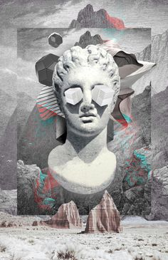 Twisted Statue - Wallpaper World Psychedelic Art, Vaporwave Wallpaper, Vaporwave Art, Montage Photo, Futuristic Art, Glitch Art, Grafik Design, Surreal Art, Aesthetic Art