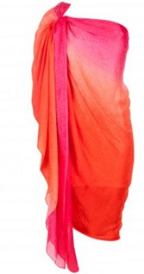 Orange cowl draped tunic available only at Pernia's Pop-Up Shop. #3OtherThings #Fashion