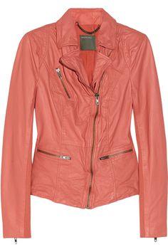 Sirius leather biker jacket by Muubaa