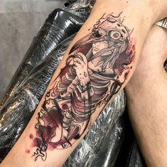 Ideas Tattoo Ideas For Guys First Tattoos 3d, Scary Tattoos, Forarm Tattoos, Time Tattoos, Forearm Tattoo Men, Tattoo Drawings, Body Art Tattoos, Sleeve Tattoos, Tattoos For Guys