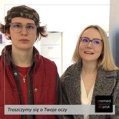 Zuzanna i Damian. Transparentne #oprawy. #STYLOWO 👌👌👌 #optyk #optometrysta #okulary #oczy #wzrok #badanie #ekspert #promedoptyk #zaufanie #moda #styl #wiosna Mirrored Sunglasses, Mens Sunglasses, Fashion, Moda, Fashion Styles, Men's Sunglasses, Fashion Illustrations