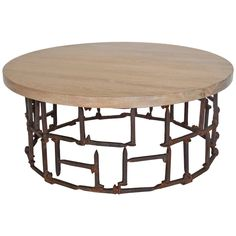 Rail Road Spike Table   From a unique collection of antique and modern coffee and cocktail tables at https://www.1stdibs.com/furniture/tables/coffee-tables-cocktail-tables/
