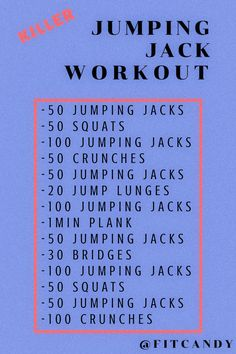 Plyo Workouts, Cardio Workout Plan, Endurance Workout, Outdoor Workouts, At Home Workouts, Best Workout Routine, Tabata, Jumping Jacks Workout, Wods Crossfit