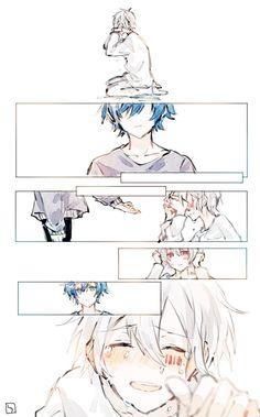 Soraru and Mafumafu Sad Anime, Cute Anime Boy, Kawaii Anime, Anime Guys, Vocaloid, Manga Art, Anime Art, Natsume Yuujinchou, Anime Drawings Sketches