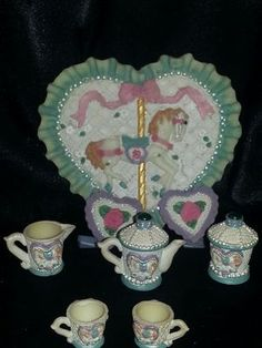 Carousel Mini Tea Set, Perfect condition! Buy TWO Sets and save $5 on total!!