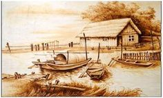 pyrography from China | Fig. 1: Real pyrography style painting