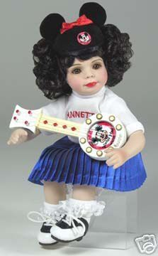 "Marie Osmond ""Tiny Tot"" doll of Annette Funicello as a Mouseketeer. This was created in celebration of the 50th Anniversary of the Mickey Mouse Club."