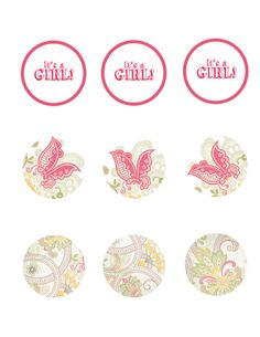 Butterfly  Baby Shower Cupcake Toppers by Classicology on Etsy, $8.00