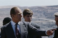 Prince Philip, the Duke of Edinburgh with his son Prince Andrew during their tour of Africa, 1979. (Photo by Serge Lemoine/Getty Images)