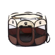 Sturdy Dog Cage Portable Foldable Playpen Pet Dog Crate Room Puppy Exercise Kennel Cat Cage Water Resistant Outdoor Removable Mesh Shade Cover Durable * Be sure to check out this awesome product. (This is an affiliate link) Puppy Playpen, Puppy Kennel, Outdoor Cats, Indoor Outdoor, Outdoor Spaces, Puppy Pens, Cat Cages, Cat Dog, Pet Safe