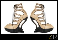 Alexander McQueen Lace-up Leather Wedge Sandals | The Zoe Report