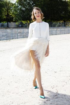 Ulyana Sergeenko wearing Jason Wu at Paris Fashion Week. We cannot vote for Mitt Romney or she will not have a job.