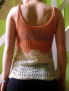 Tank top knitting pattern