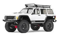 We have already drooled over the Land Rover Defender RC and the Ford Bronco RC, now our latest RC crush is this fully licensed and highly detailed Jeep Cherokee RC model. This beautifully detailed and faithful reproduction of the 2000 Jeep Cherokee, 4x4, Rc Rock Crawler, Terrain Vehicle, Jeep Cherokee Xj, 1 10 Scale, Rc Trucks, Rubicon, Jeep Wrangler Unlimited, Ford Bronco