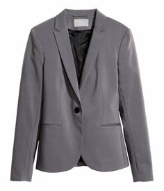Product Detail | H&M US Fitted Blazer  in dark grey