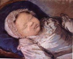 Princesa Marie Sophie Hélène Béatrix de France, filha do rei Luís XVI e da rainha Maria Antonieta, nasceu em 1786 e morreu em 1787.jpg