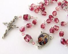Rosary Style Necklace - Our Lady Undoer of Knots Five Decade Rosary