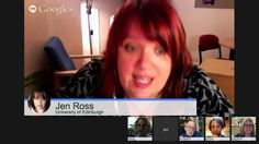 "Day 12-EDCMOOC Hangout 2-The 5 professors host a live Google Hangout each Friday. Today was my first opportunity to ""attend"" live.  It was exciting see and hear the profs share their views on the week's topic and then to watch the Twitter feed and see tweets being added to the conversation-my own included!"