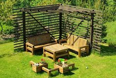 Modern garden furniture sets
