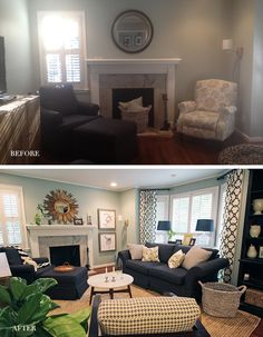 COLLIER HILLS BEFORE AND AFTER MAKEOVER Living Room