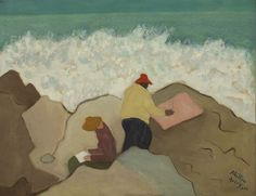1944, Milton Avery (American artist, 1885-1965) Sketching by the Sea It's About Time: The Paintings of American, Milton Avery 1888-1965