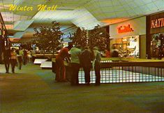 This is Park City mall in Lancaster Pa. in the each season the four sections would take a season this is Penney's mall the winter season.by the way the people are watching roller skating on the lower level.I spent a lot of time here! Pennsylvania History, Lancaster Pennsylvania, Lancaster County, Park City, Dead Malls, Shopping Malls, Architectural Features, Columbus Ohio, My Collection