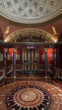 View of the Agate Room, newly restored in Cold Bath at Tsarskoe Selo Historical Architecture, Interior Architecture, Ukraine, Dome Ceiling, Kitchen And Bath Remodeling, Summer Palace, Voyage Europe, Imperial Russia, Historic Homes