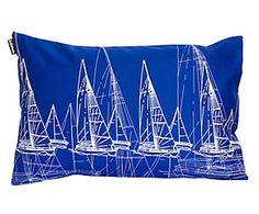 Cojín de lona veleros, rectangular, azul – 60x40 cm